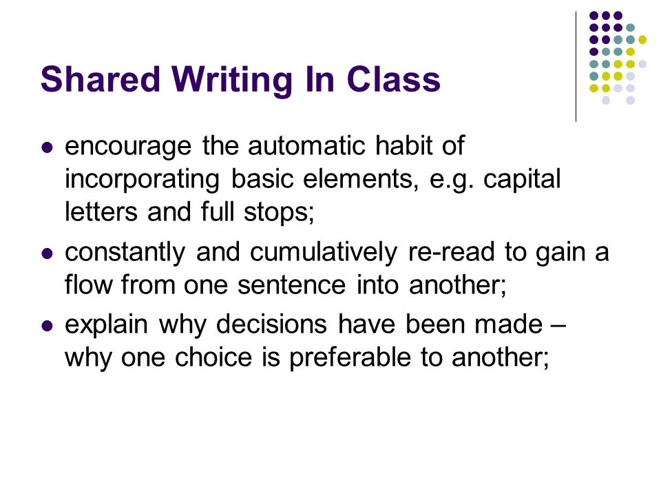 Shared Writing In Class