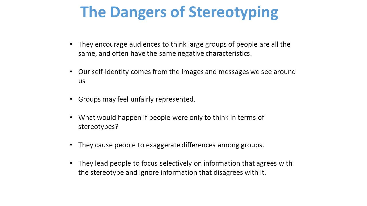 dangers of stereotyping essay maryland city