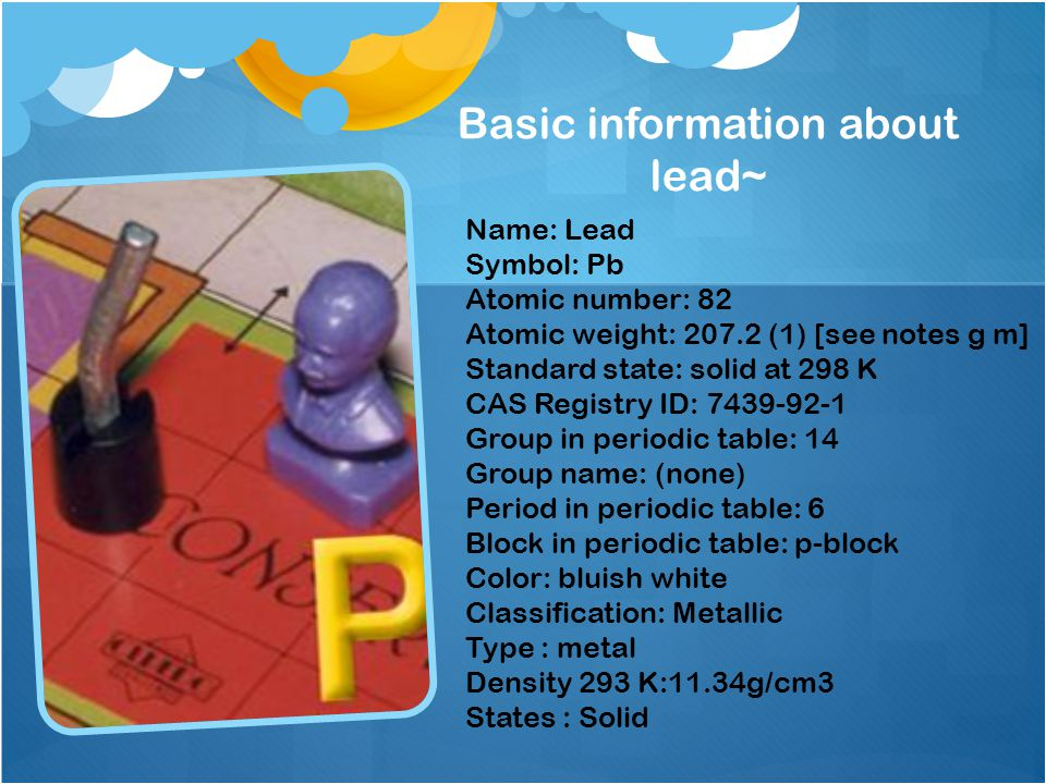 3 basic information - Periodic Table Symbol Pb