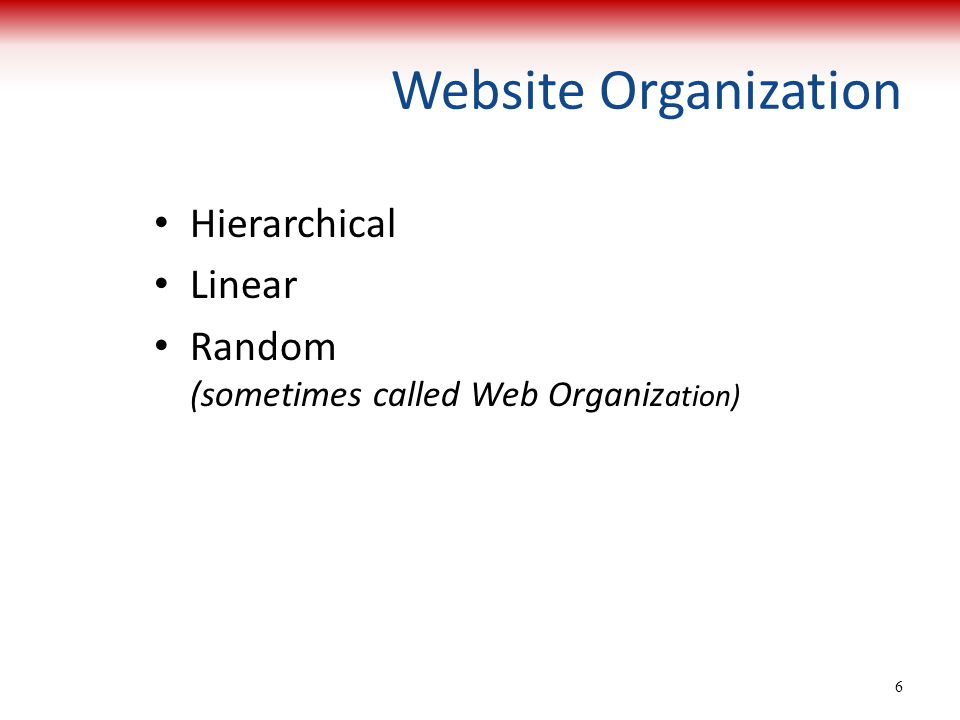 What Is Linear Random And Hierarchial Web Design