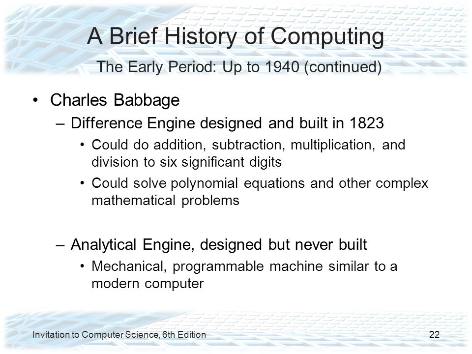 History of computer science