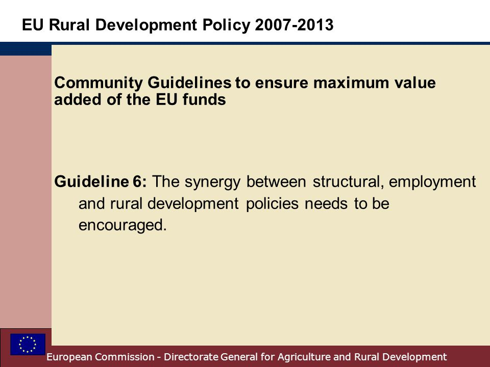 Community Guidelines to ensure maximum value added of the EU funds