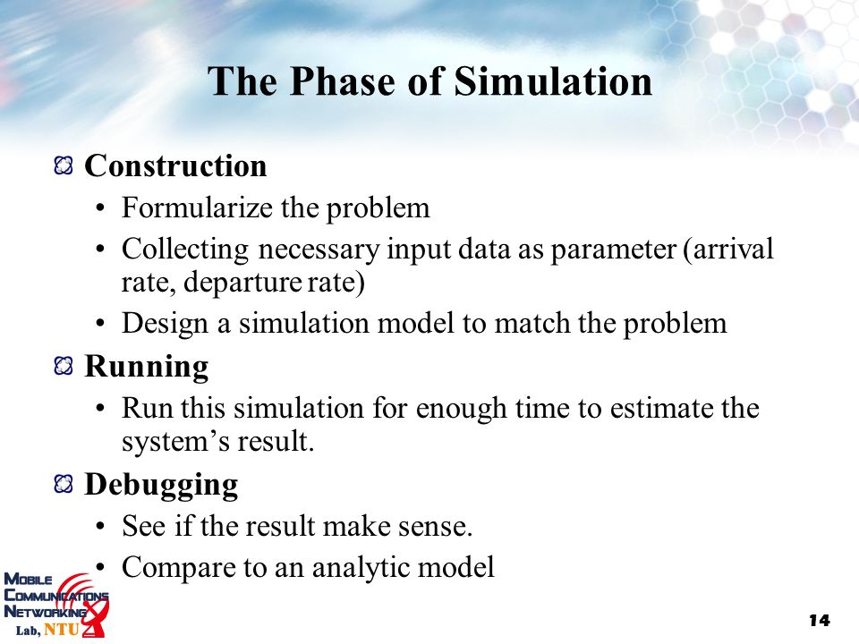 The Phase of Simulation