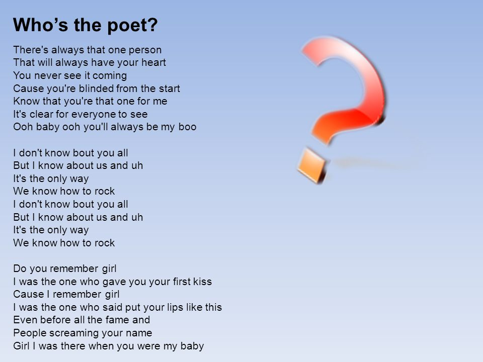 Who's the poet