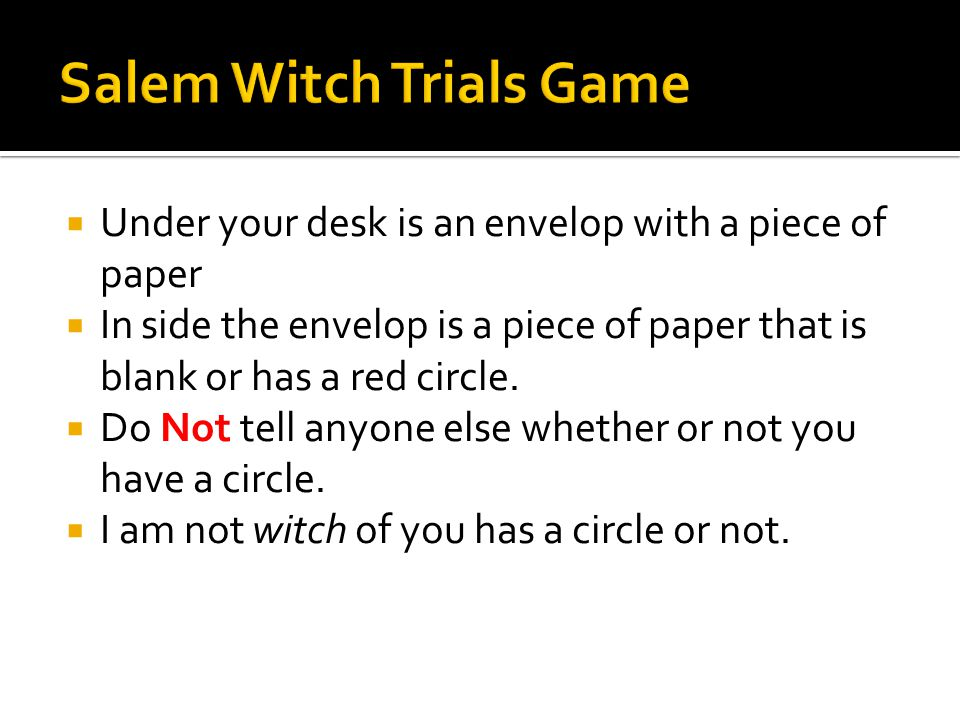 "the salem witch trials description essay Salem witch trials (essay sample) the ""salem witch trials"" were associated with discrimination  description: social sciences essay:."