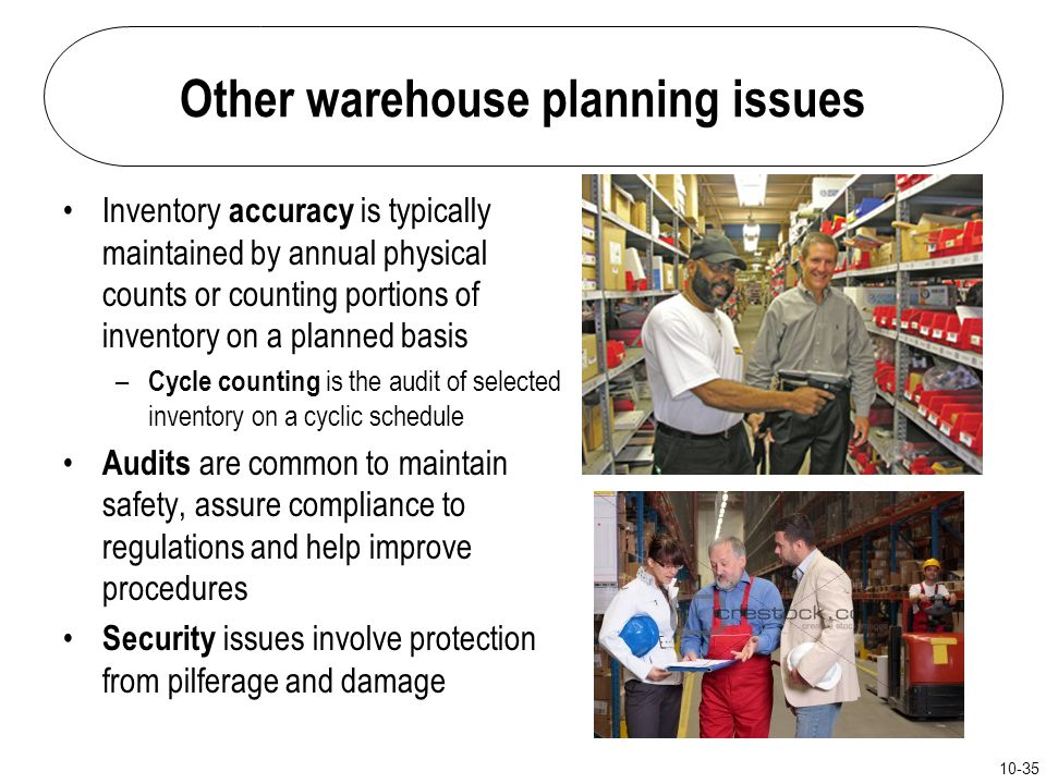 Other warehouse planning issues