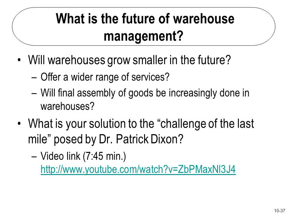 What is the future of warehouse management