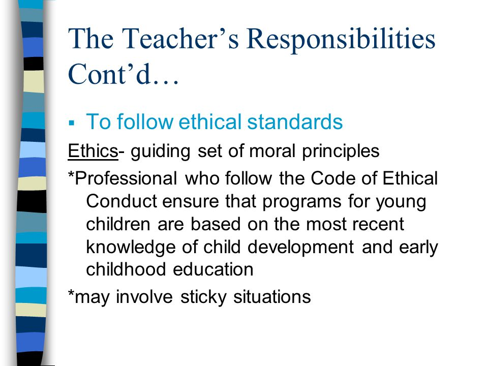 Professional Code of Ethics for Teachers