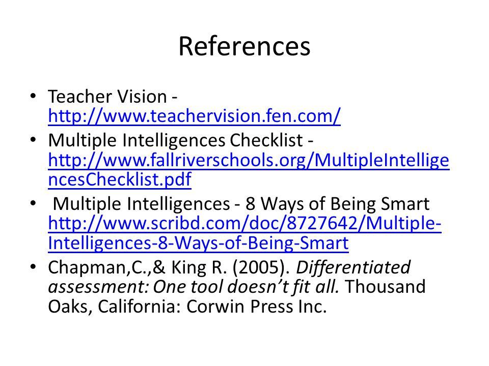 list of multiple intelligences pdf