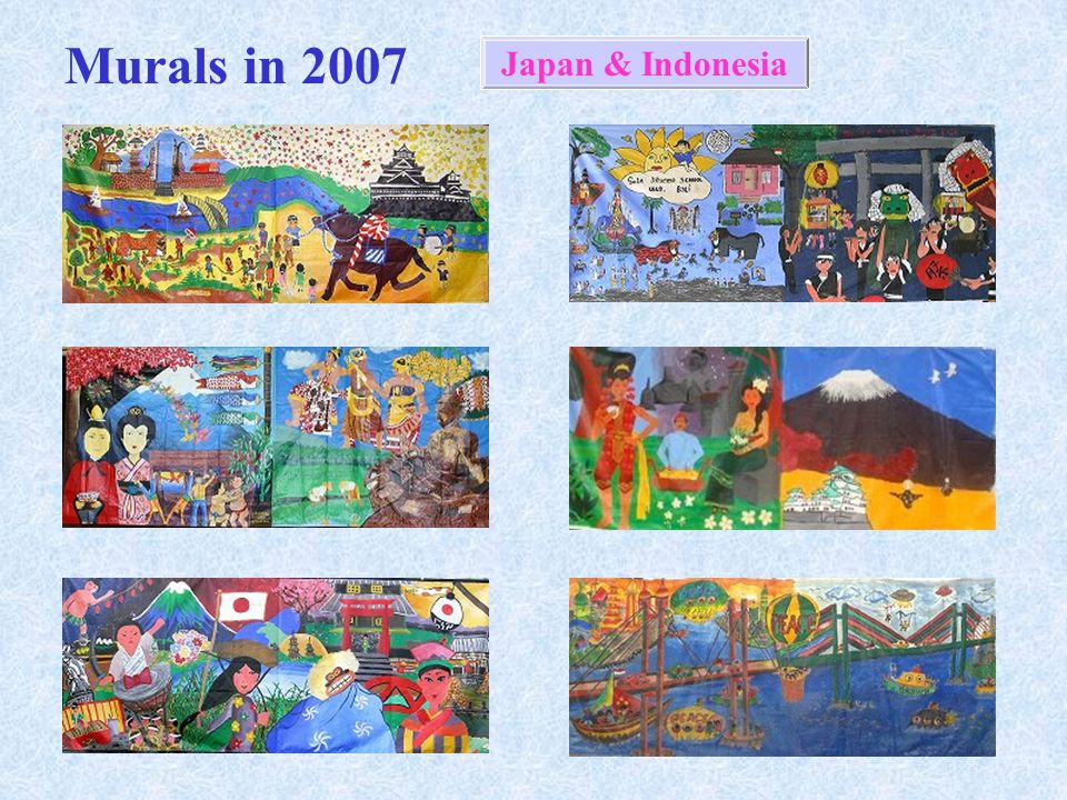 Intercultural mural exchange ppt download for Mural indonesia