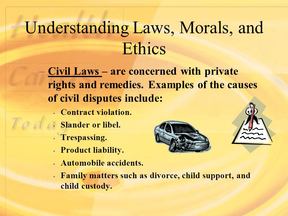 Family Law Reflecting Moral and Ethical Issues