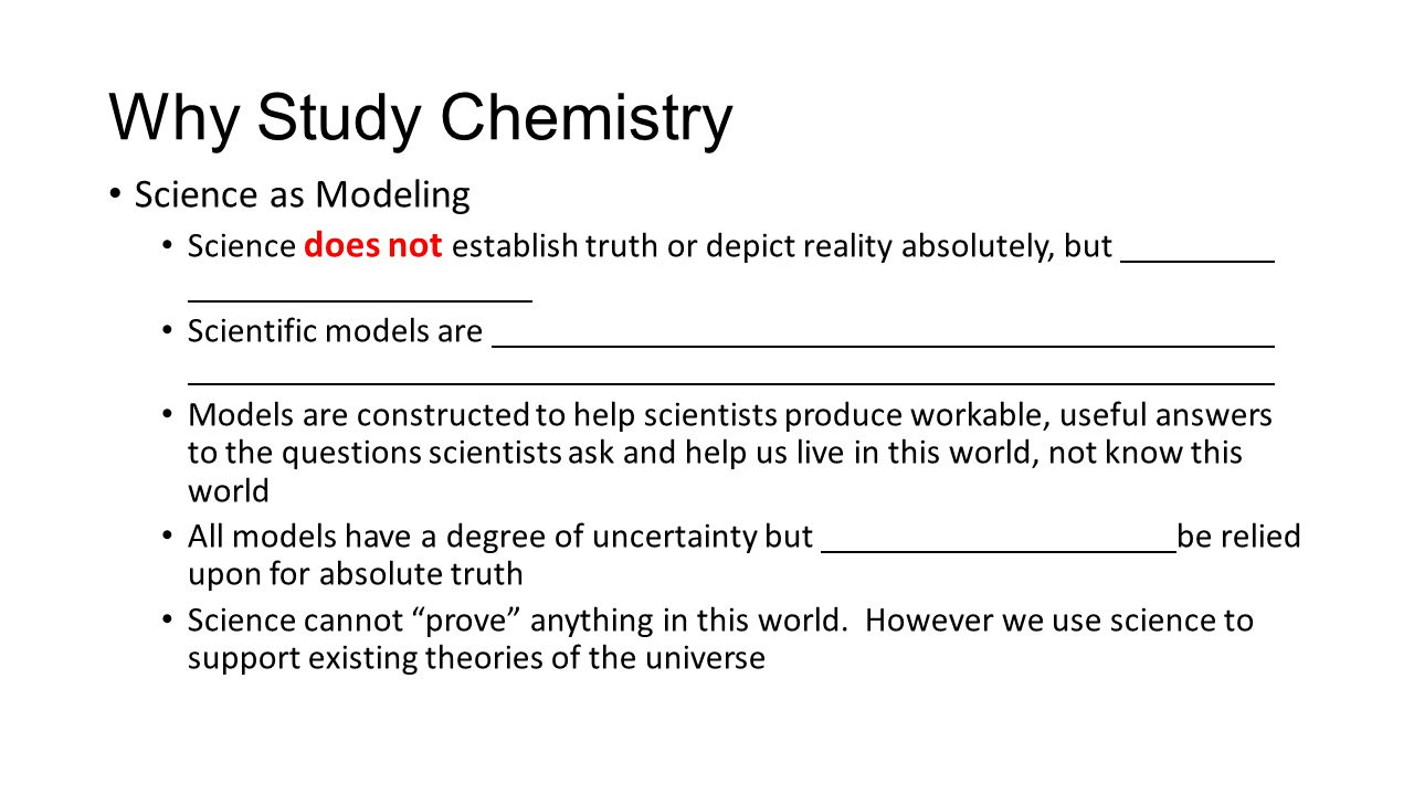 the study of science and chemistry The central discipline in science, chemistry is the study of substances and their  transformation it is the science that deals with the composition, structure and.