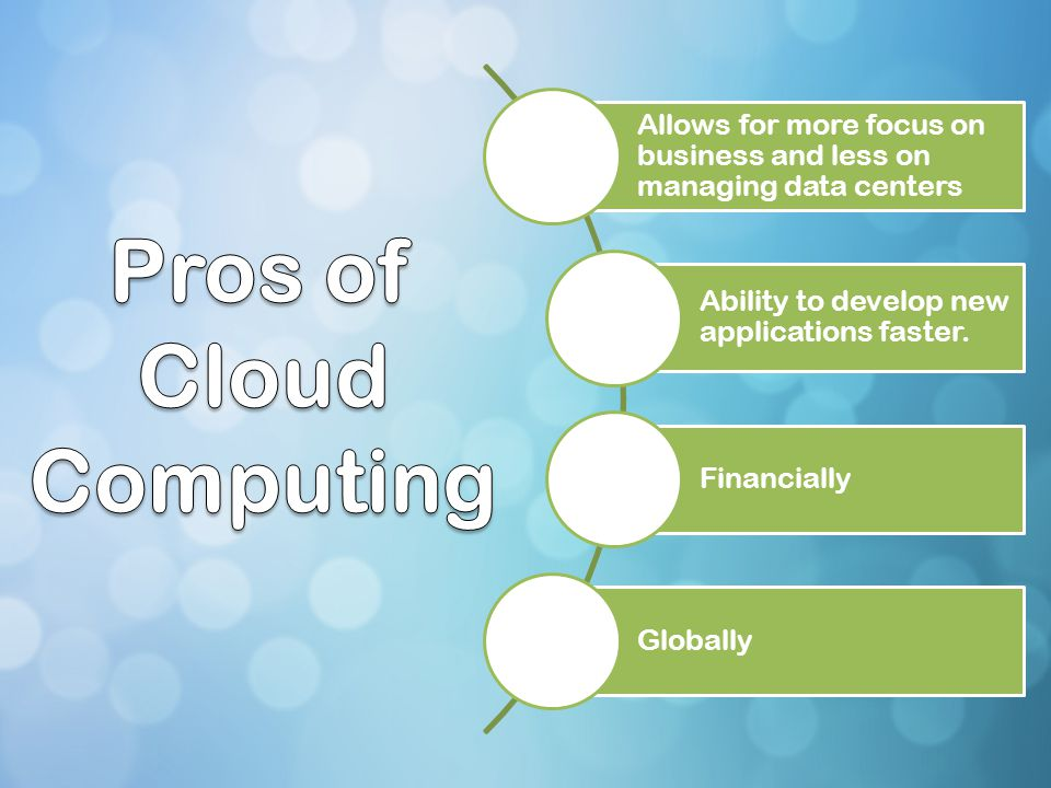 Pros of Cloud Computing