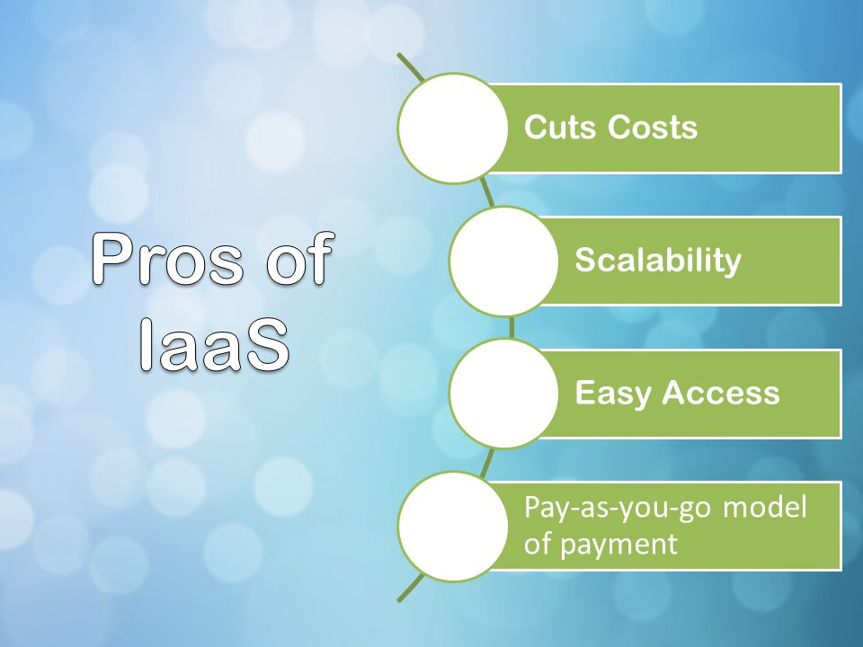 Pros of IaaS Cuts Costs Scalability Easy Access