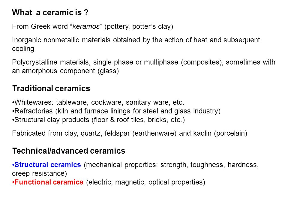 Introduction to functional ceramic materials - ppt video online download