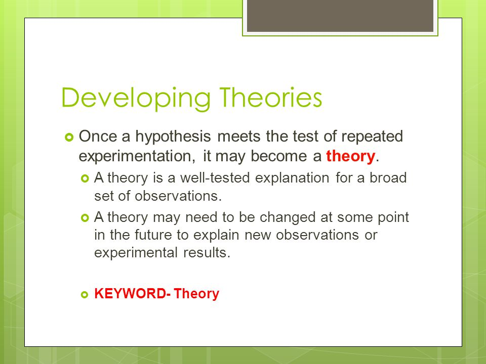 developing a hypothesis Centering your testing on a hypothesis that is rooted in solving problems can be a huge benefit to your testing and optimization  example of a good hypothesis.