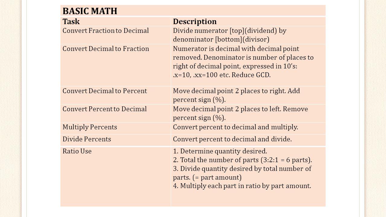 Basic Math Task Description Convert Fraction To Decimal