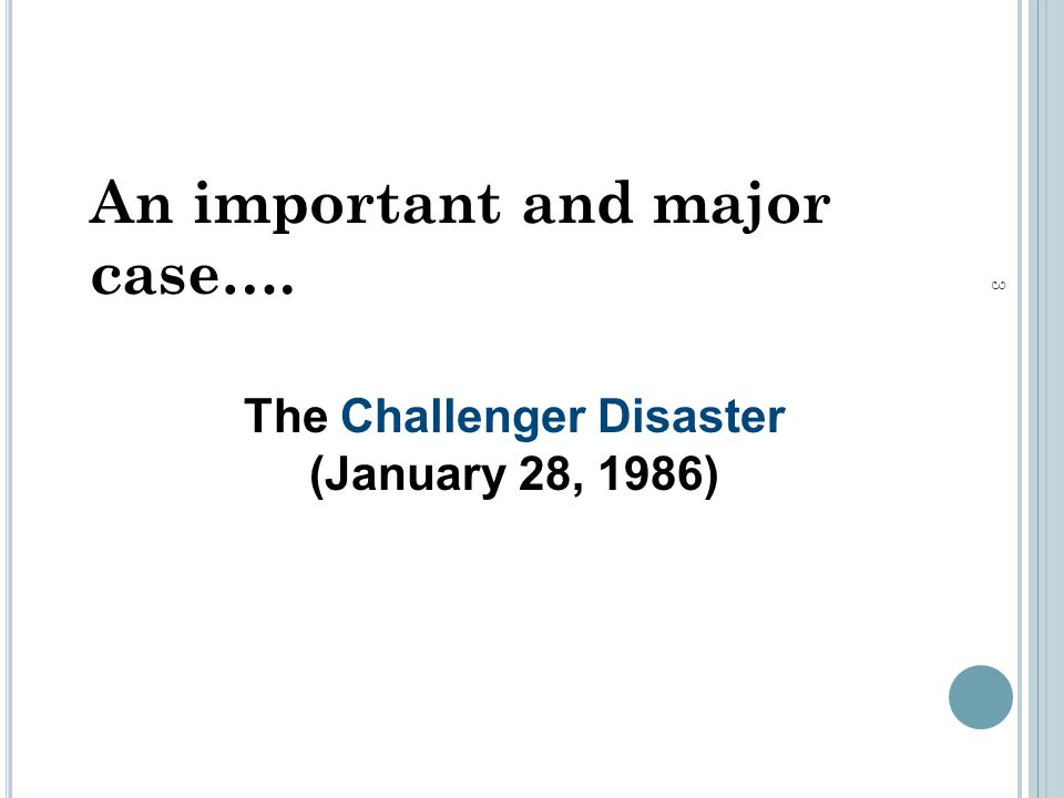engineering ethics case study the challenger disaster Engineering ethics case study: the challenger mark p rossow, phd, pe retired course outline this three-hour online course begins by presenting the minimum.