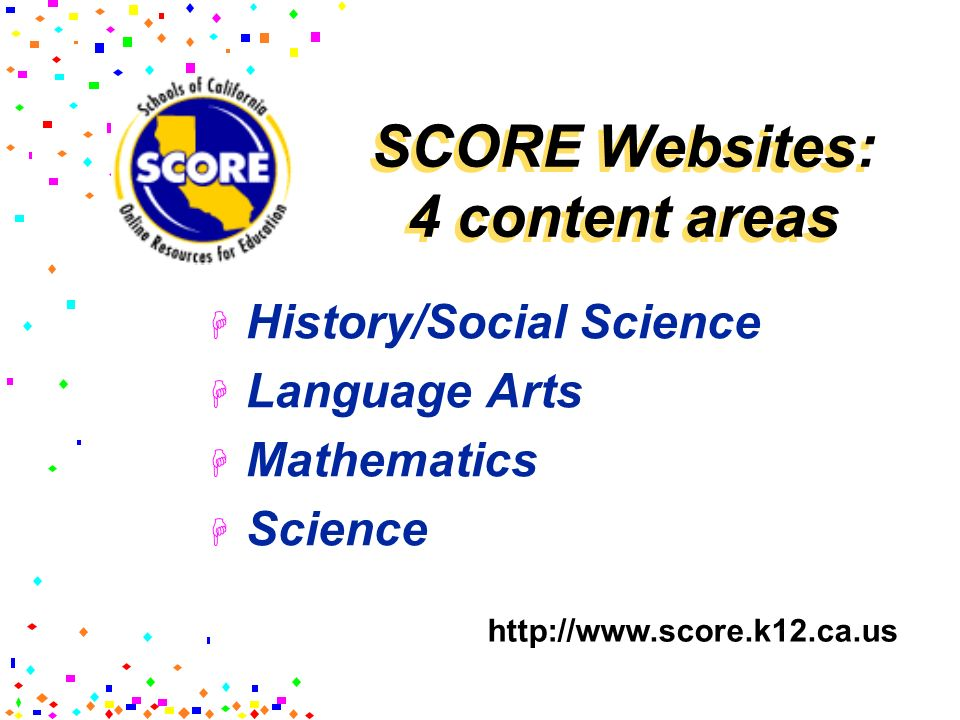 Schools of California On-line Resources for Education ...