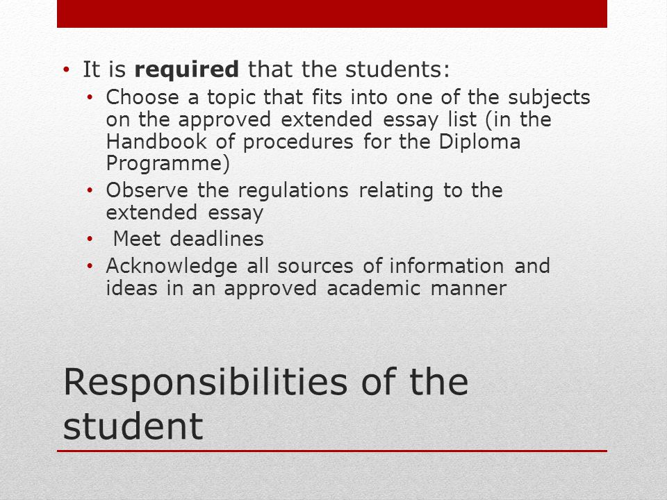 essay about responsibilities of a good student Duties of a student essays and research papers form of the good 947 2012pdf student rights and responsibilities student bill of.