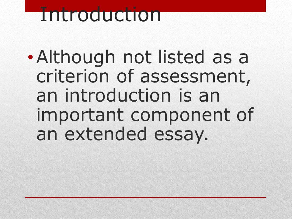 history extended essay criteria