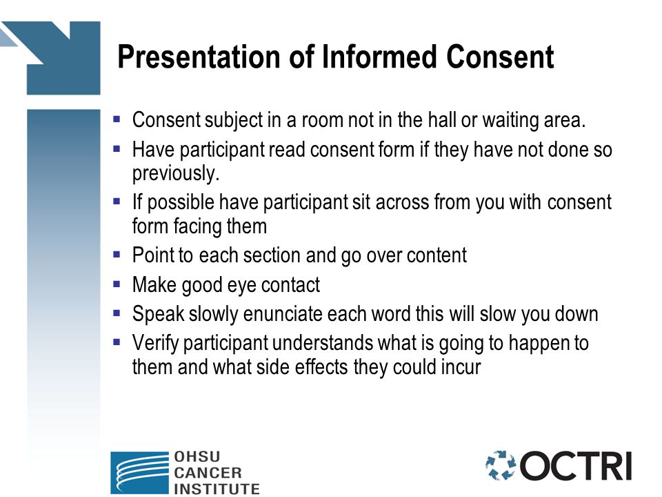 Informed Consent Process For Research Coordinators  Ppt Download