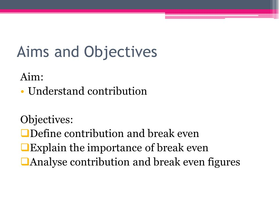 Break Even Analysis As Business Studies. - Ppt Download