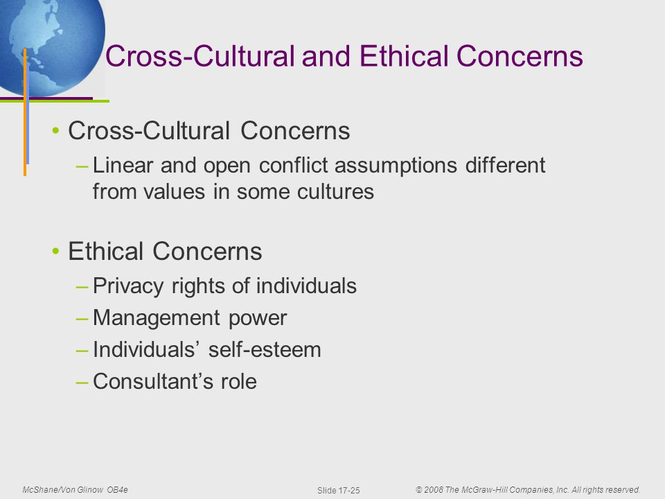 cross cultural concern Researching across cultures: issues of ethics  cross-cultural research design  data ownership has become increasingly articulated as a major concern for.