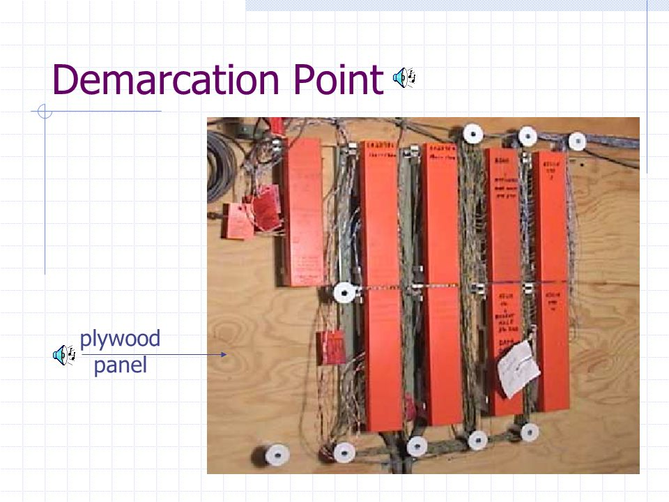 Demarcation Point plywood panel