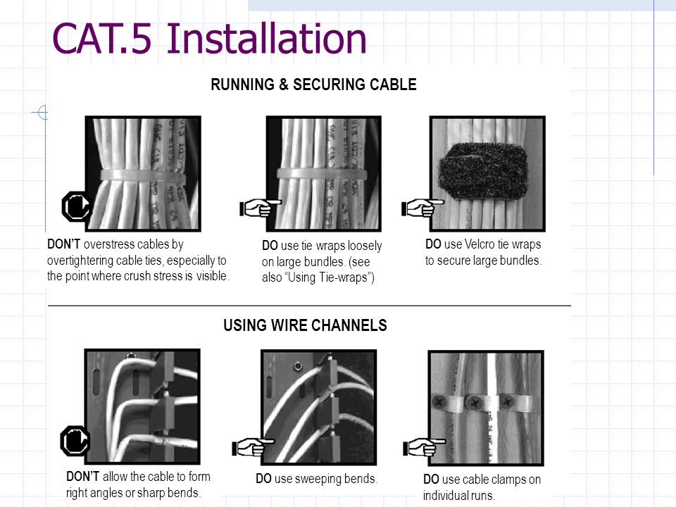 RUNNING & SECURING CABLE