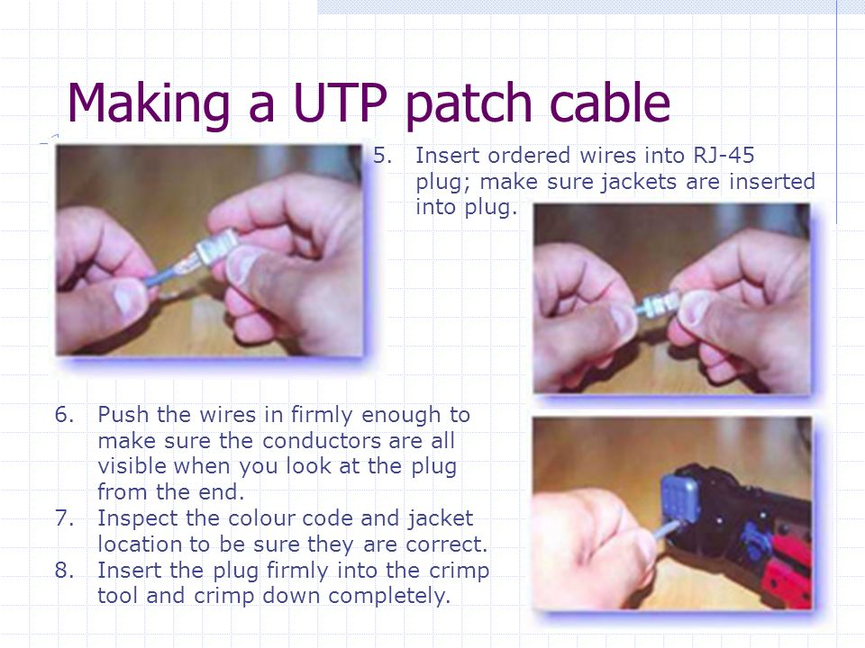 Making a UTP patch cable