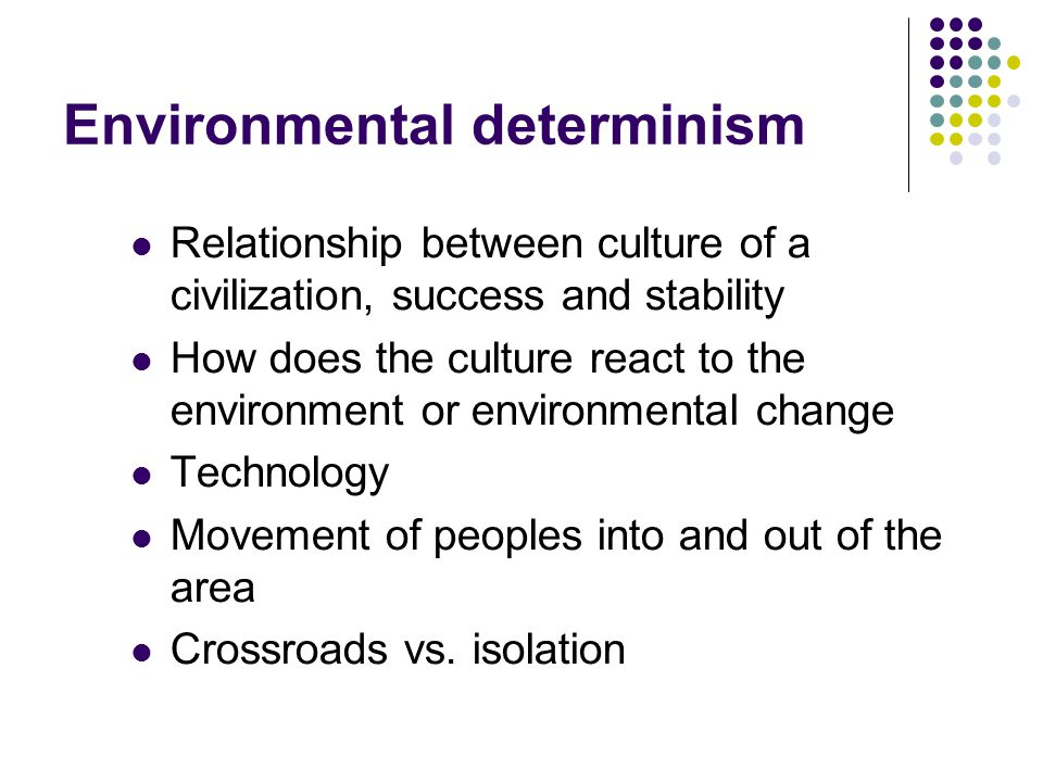 relationship between materialism and determinism