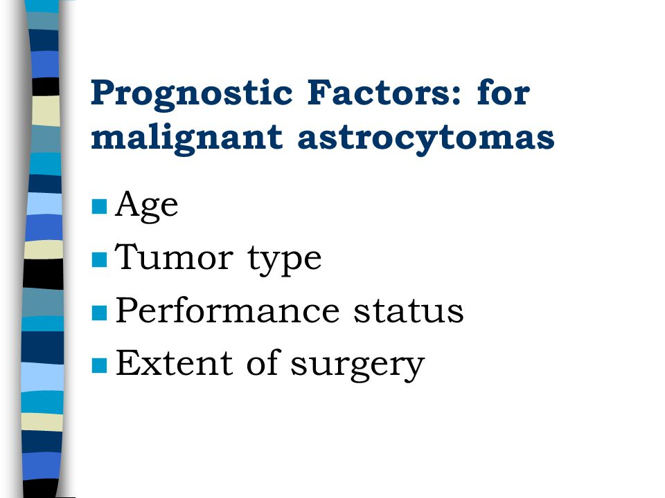 Prognostic Factors: for malignant astrocytomas