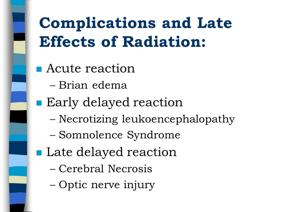 Complications and Late Effects of Radiation: