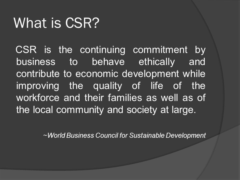 a corporation's social responsibility 2 corporate social responsibility and sustainable business traditional boundaries of the organization most organizations can be placed somewhere in between.