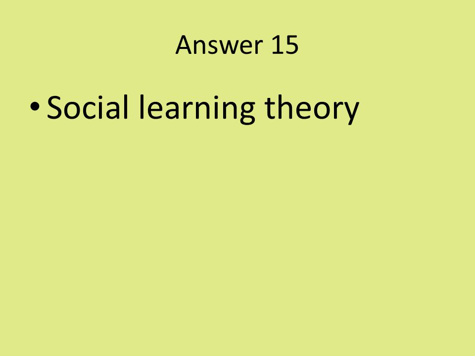 """social learning theory papaer review Theory of learning based upon piaget's constructivism note that papert worked  """"constructionism—the n word as opposed to the v word— shares."""