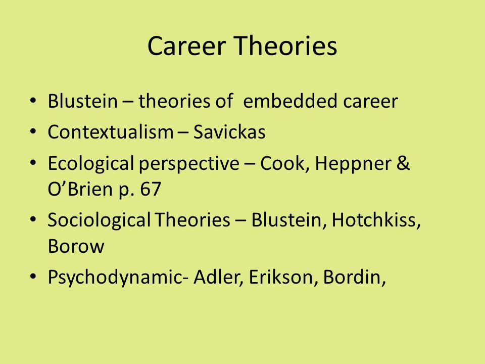 parsons theory of career choice pdf