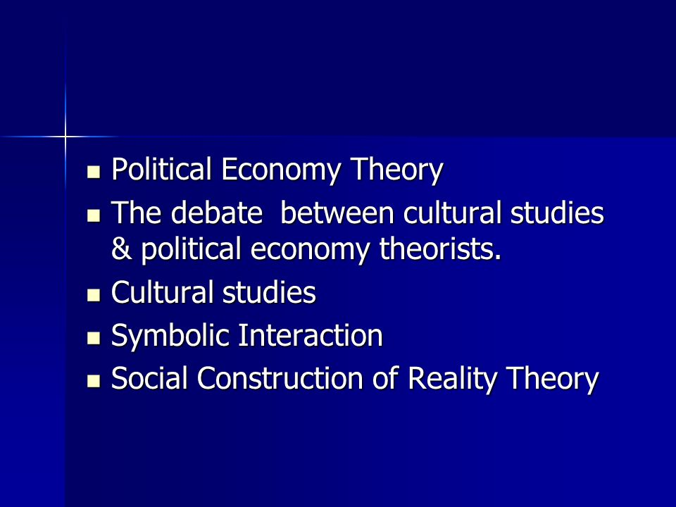 Political economy approach