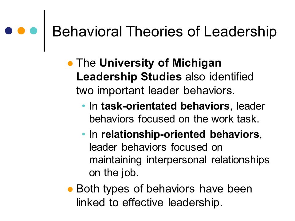 task oriented and relationship leadership behaviors practices