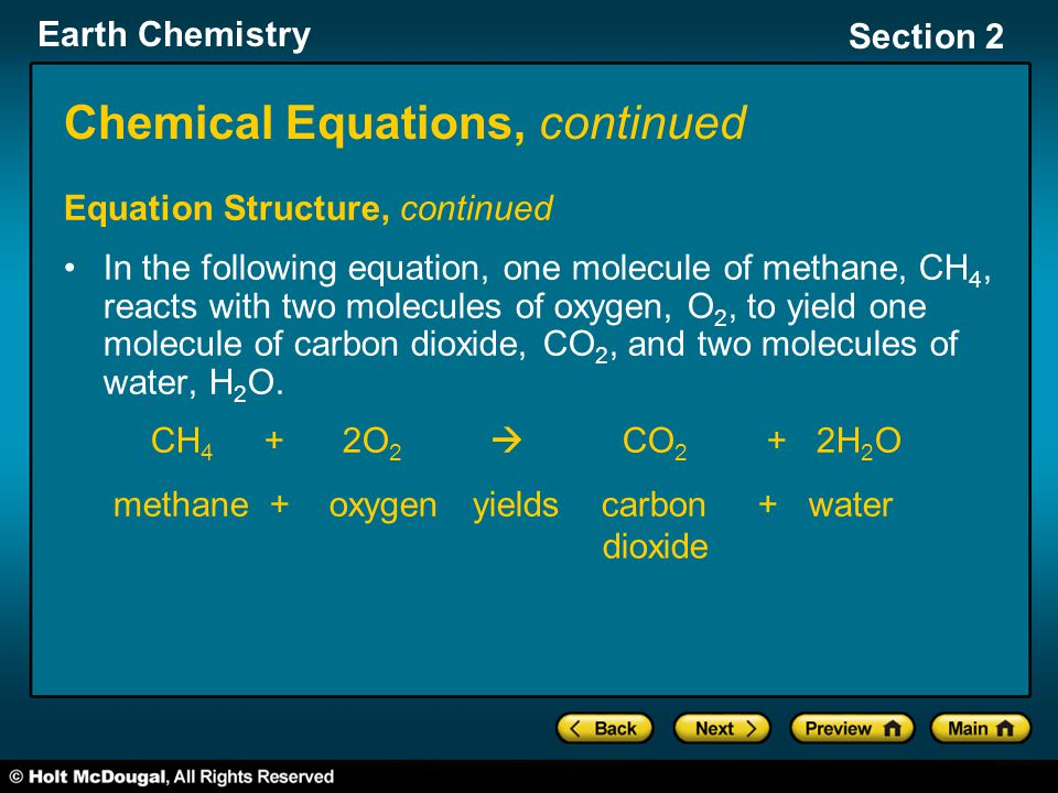 Chemical Equations, continued