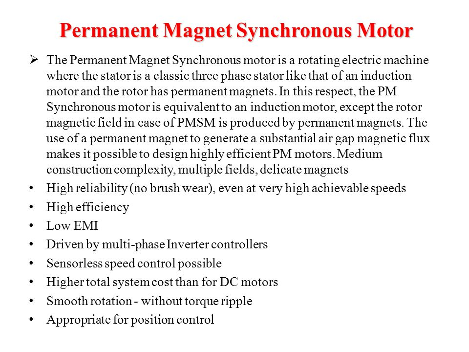 Power electronics eng mohammed alsumady epe 550 electrical for Permanent magnet synchronous motor drive