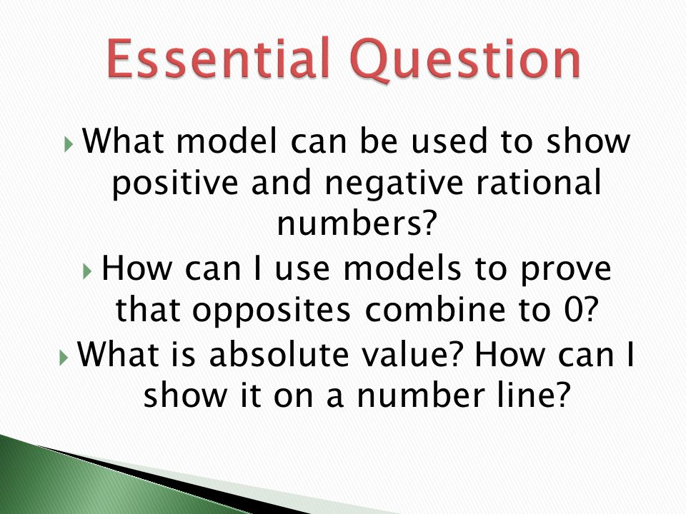 how to use a negative and positive number line