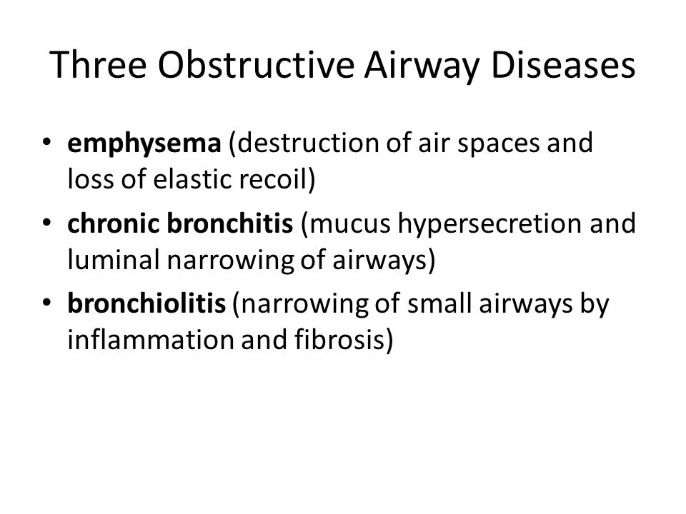 Three Obstructive Airway Diseases