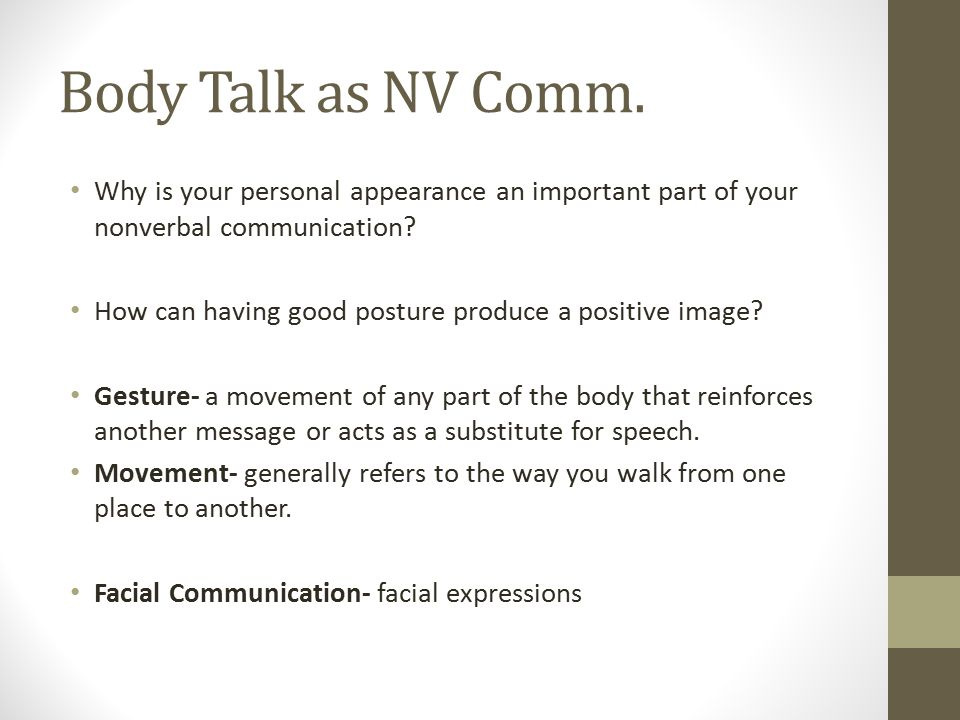 what is the advantage of body language in communication? essay Advantage body language consulting 70 likes advantage body language consulting specializes in all aspects of non-verbal communication training.