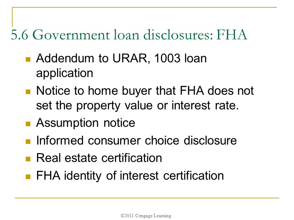 Chapter 5: Loans: Finance Disclosure & Other Real Estate ...
