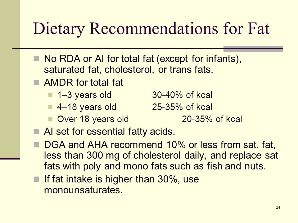 What Is The Rda For Fat