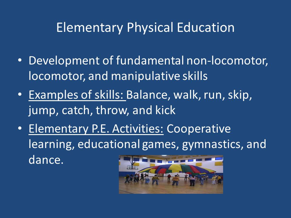 the importance of physical education in elementary schools Physical education in schools - both quality and quantity are important a statement on physical education from the american cancer society cancer action.