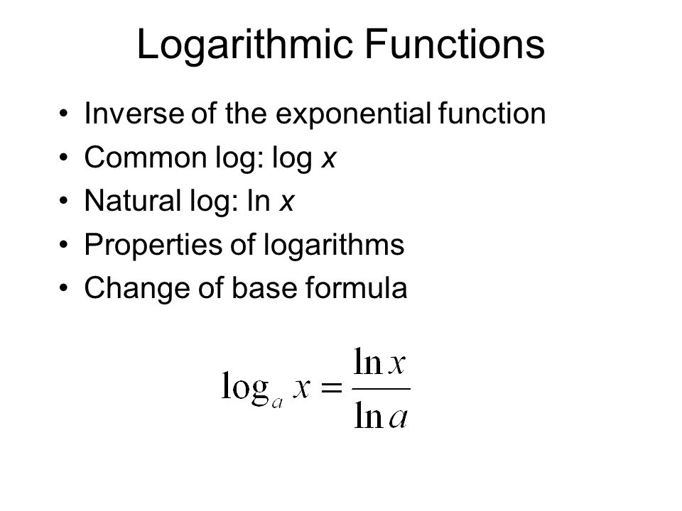 Functions and Logarithms - ppt download