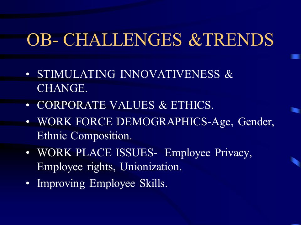 challenges for ob