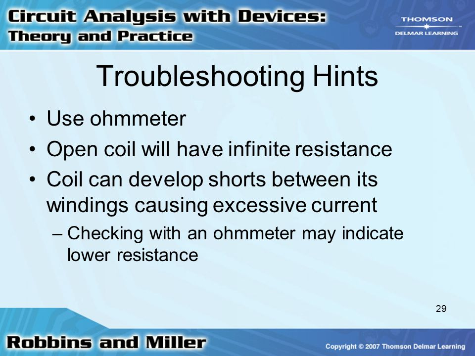 Infinite Resistance Ohmmeter : Inductance and inductors ppt video online download